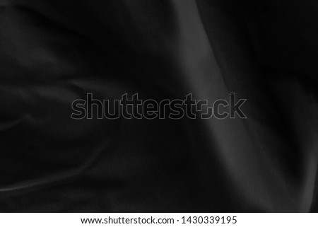 Black fabric sheets background or texture. #1430339195