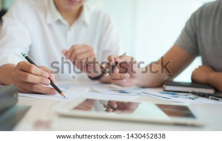 Concept of financial and business consultant. Royalty-Free Stock Photo #1430452838