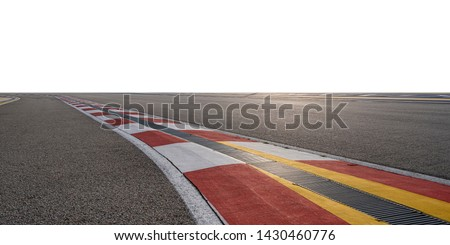 Empty race track with white background   #1430460776