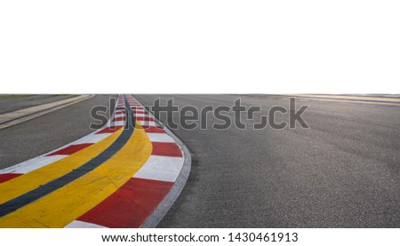Formula One Racing track in white background #1430461913