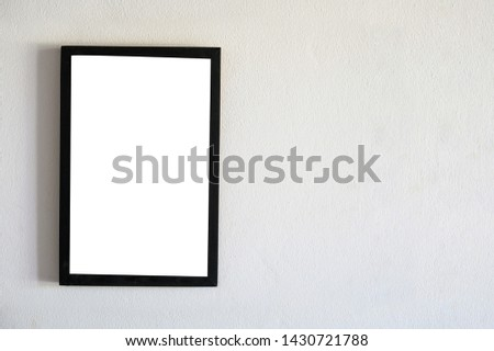 Stand Mock up Menu frame blurred background design key visual layout