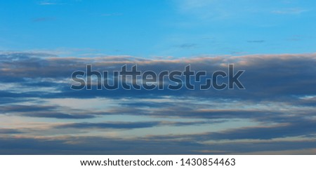 Texture background, pattern, wallpaper. They are still quite high clouds. They do not give rain. Altostratus clouds have an average level of gray or blue-gray. usually cover the whole sky. #1430854463
