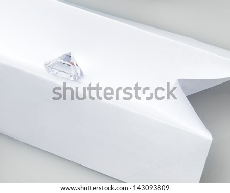 Grading the whiteness of a diamond.