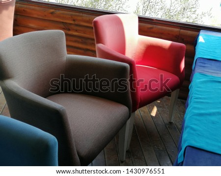 Colorful and comfortable armchair and armchairs #1430976551