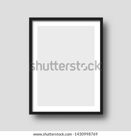 Wall picture frame vector.  Painting modern blank artwork.  Royalty-Free Stock Photo #1430998769