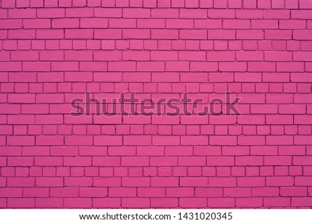 brick wall painted in shade of pink color. #1431020345