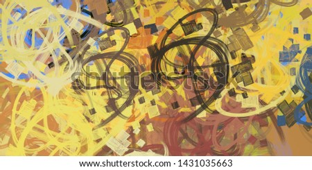 Artistic sketch backdrop material. Abstract geometric pattern. Chaos and random. Modern art drawing painting. 2d illustration. Digital texture wallpaper.  #1431035663