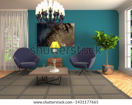 interior with chair. 3d illustration. #1431177665