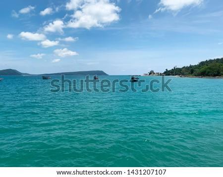 Landscape photo of beautiful beach on Koh Rong island in Cambodia. Travel Cambodia. #1431207107