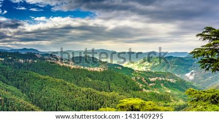 Panoramic view at Shimla, Himachal Pradesh, India. #1431409295