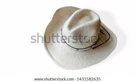 The straw hat isolated on white background #1431582635