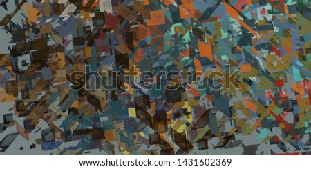 Artistic sketch backdrop material. Abstract geometric pattern. Chaos and random. Modern art drawing painting. 2d illustration. Digital texture wallpaper.  #1431602369