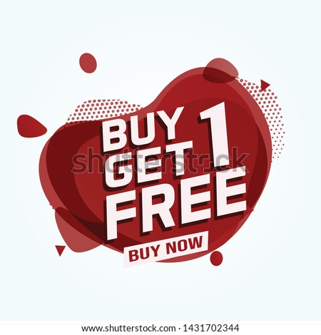 Buy 3 Get 1 Free sale tag. Banner design template for marketing. Special offer promotion or retail. white  background banner modern graphic design for store shop, online store, website, landing page #1431702344