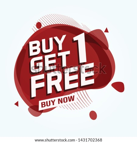 Buy 3 Get 1 Free sale tag. Banner design template for marketing. Special offer promotion or retail. white  background banner modern graphic design for store shop, online store, website, landing page #1431702368