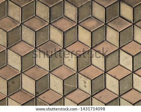 Abstract geometric hexagon brown background #1431714098