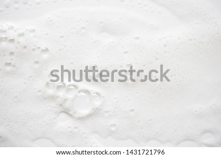 Abstract background white soapy foam texture. Shampoo foam with bubbles #1431721796