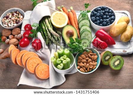 Best High Alkaline Foods.  Vegan, alkaline diet concept #1431751406