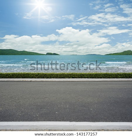 Road side beach view  background #143177257