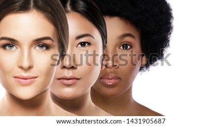 Multi-ethnic beauty. Different ethnicity women - Caucasian, African, Asian. #1431905687