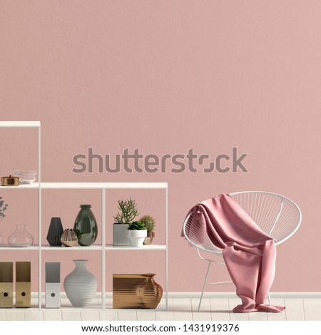 Iinterior design in contemporary style. Mock up wall. 3D illustration. #1431919376