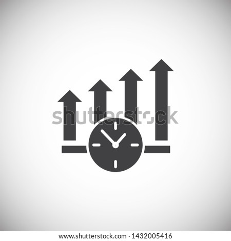 Time management related icon on background for graphic and web design. Simple illustration. Internet concept symbol for website button or mobile app. #1432005416