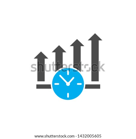 Time management related icon on background for graphic and web design. Simple illustration. Internet concept symbol for website button or mobile app. #1432005605