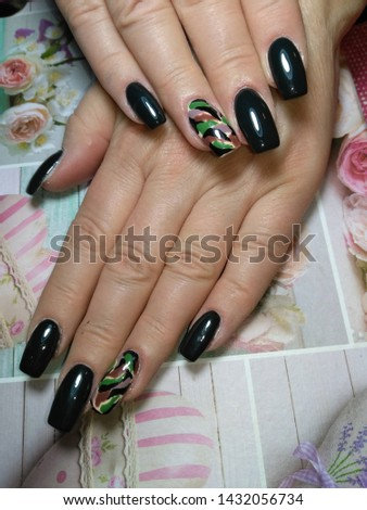 Femininity in front of everything with beautiful manicure  #1432056734