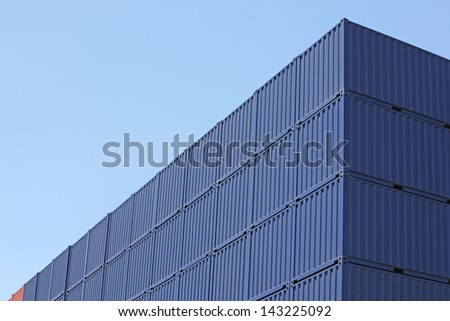 freight shipping containers at the docks #143225092