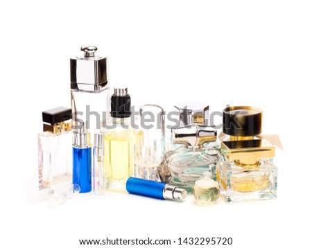 set of perfume bottle isolated on white background - Image  #1432295720