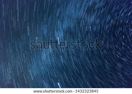 Star Trail Galaxy starry night