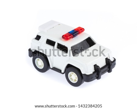 Police Car Toys isolated on a white background.