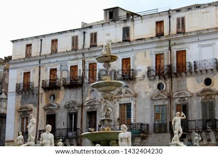 Panoramic view of Piazza Pretoria or Piazza della Vergogna, Palermo, Sicily #1432404230