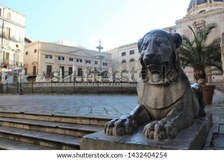 Panoramic view of Piazza Pretoria or Piazza della Vergogna, Palermo, Sicily #1432404254