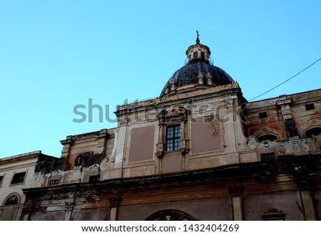 Panoramic view of Piazza Pretoria or Piazza della Vergogna, Palermo, Sicily #1432404269