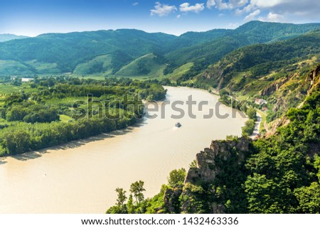 Landscape of Wachau valley, Danube river, Austria. #1432463336