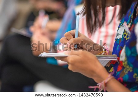 people focus on learning and lecture on their books #1432470590
