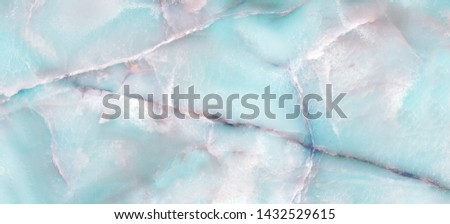 Onyx watercolor Crystal marble texture with icy colors, Polished Quartz Stone Background, Can be use interior home decoration and ceramic tile surface.