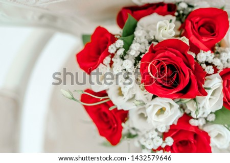 wedding bridal bouquetbouquet for the wedding, beautiful wedding flowers #1432579646