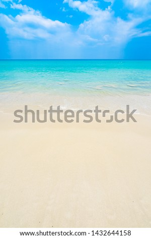 The clean and beautiful white beach of southern Thailand #1432644158