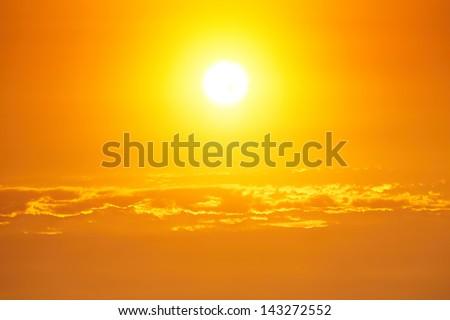 Moody sky - bright sunset - back lit #143272552