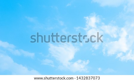 Blue sky and clouds in the weather day outdoor nature environment abstract background #1432837073