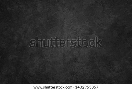 Elegant black background vector illustration with vintage distressed grunge texture and dark gray charcoal color paint