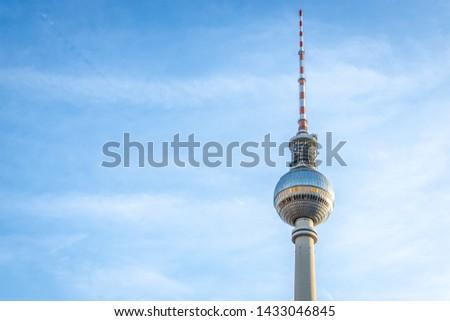 Berliner Fernsehturm in summer evening, Berlin #1433046845