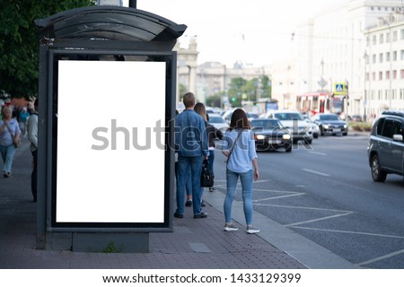 advertising mockup for ad placement advertising in the bus shelter #1433129399
