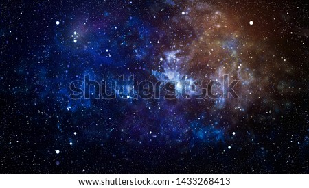 Star dust and pixie dust glitter space backdrop. Space stars and planet conceptual image. #1433268413
