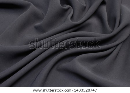 Fabric viscose (rayon). Color is gray. Texture, background, pattern. #1433528747