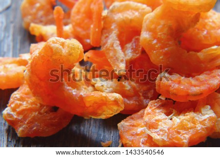 heap of dried shrimp fish at the traditional #1433540546