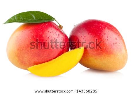 mango fruit isolated on white background #143368285