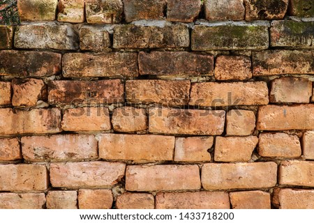 Old red brick wall texture background. #1433718200