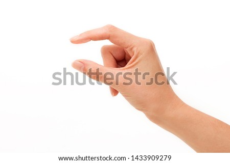Spacing between fingers on white backgrounds. Royalty-Free Stock Photo #1433909279